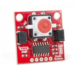 SparkFun Qwiic Button Red LED - module with red button