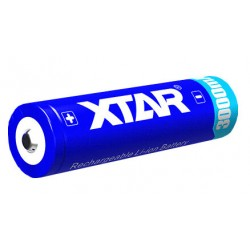 Li-Ion Xtar 18650 3,6V 3000mAh battery with protection