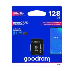 GOODRAM MicroSDHC 128GB class 10 memory card with adapter