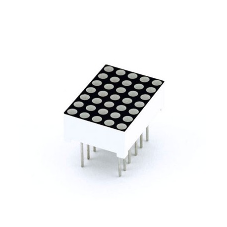 5x7 LED matrix of 3mm red diodes