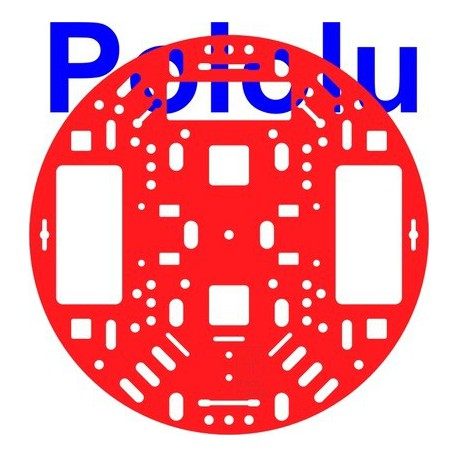 """Pololu 1500 - Pololu 5"""" Robot Chassis RRC04A Solid Red"""