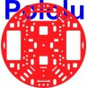 "Pololu 1500 - Pololu 5"" Robot Chassis RRC04A Solid Red"