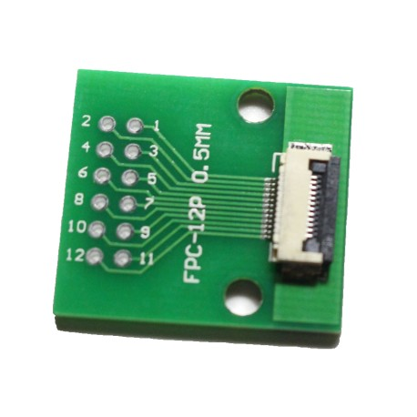 FPC/FFC 0.5mm 12-pin to DIP adapter
