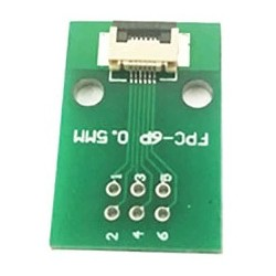 FPC/FFC 0.5mm 6-pin to DIP adapter