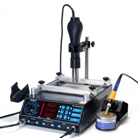 YIHUA 853AAA - 3in1 soldering station Hotair, tip and heater