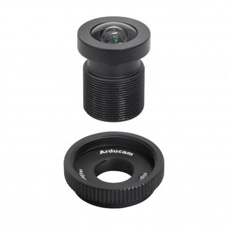 M23356H09 - 90° 1/2.3″ M12 wide angle lens with adapter for Raspberry Pi HQ camera