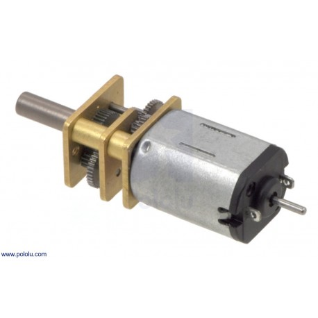 15:1 Micro Metal Gearmotor HP 6V with Extended Motor Shaft