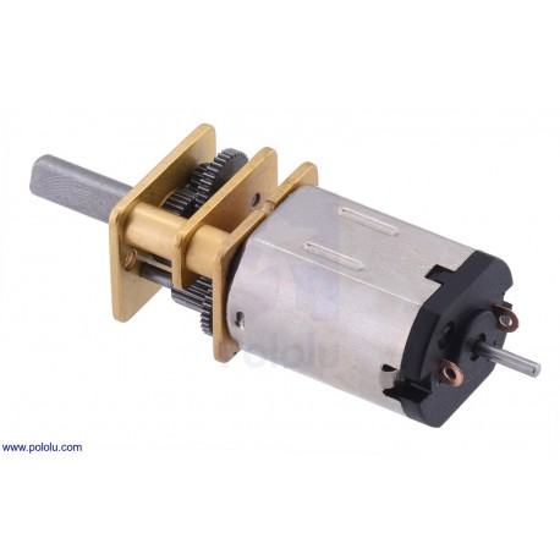 210:1 6V HPCB - miniaturowy silnik z przekładnią i obustronnym wałem