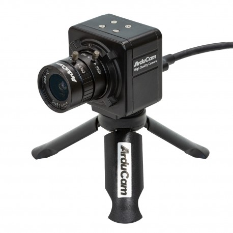 ArduCAM Complete High Quality Camera Bundle - Set with Raspberry Pi HQ camera, HDMI adapter, lens and tripod