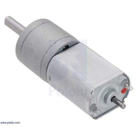 63:1 6V 20Dx43L - Metal Gearmotor with Extended Motor Shaft