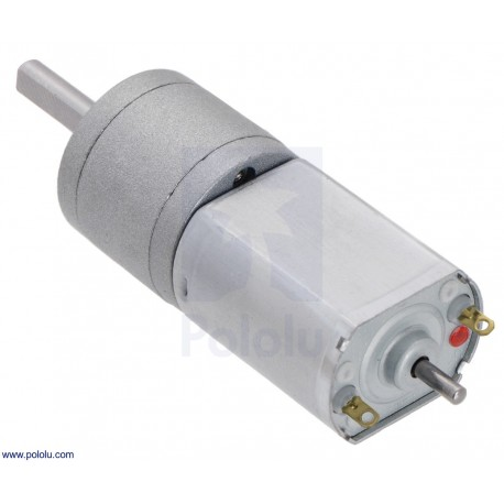 63:1 12V CB 20Dx43L - Metal Gearmotor with Extended Motor Shaft