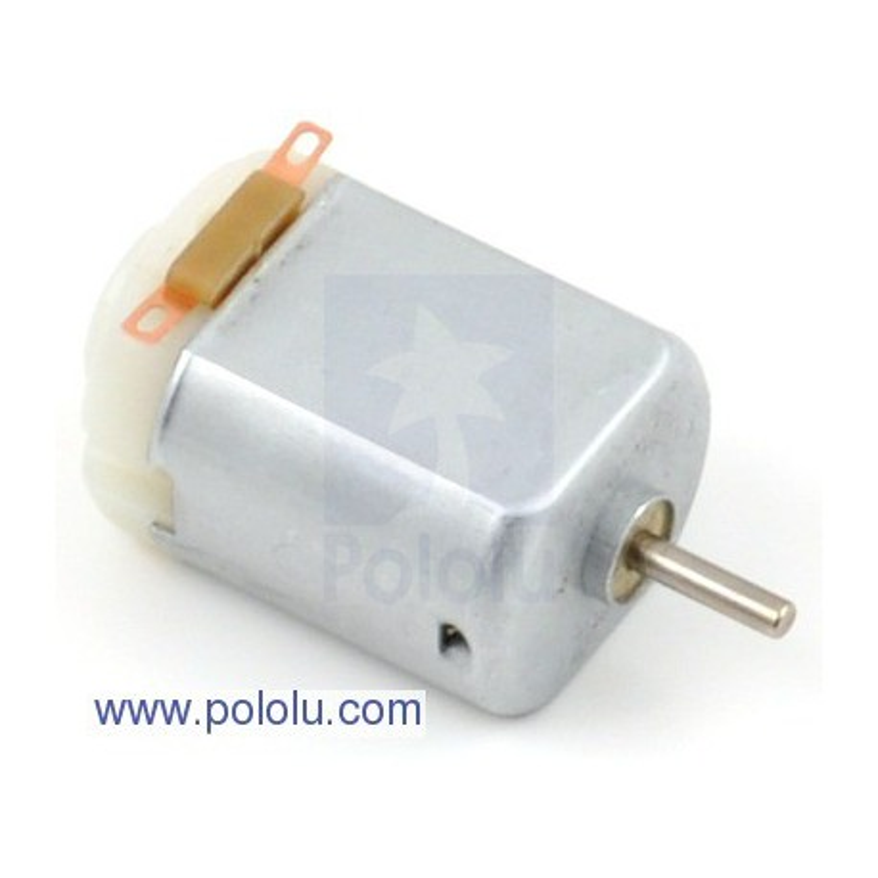 Pololu 1117 - Brushed DC Motor: 130-Size, 6V, 11.5kRPM, 800mA Stall