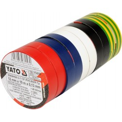 Insulating tapes 12mmx10mx0.13mm 10 pieces - YT-8156