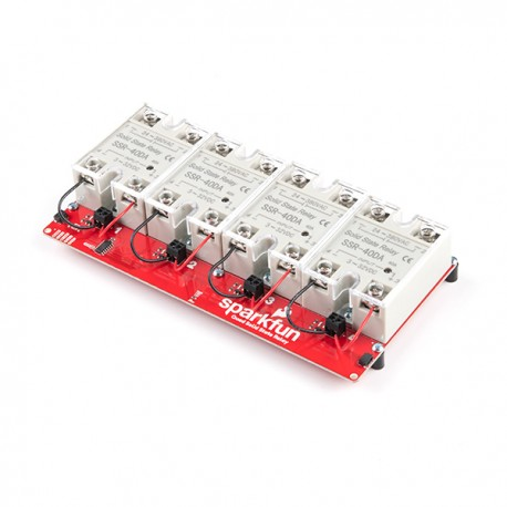 Qwiic Quad Solid State Relay Kit - module with four relays