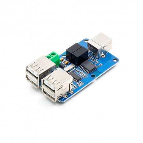 4-port isolated USB hub with ADUM3160 chip