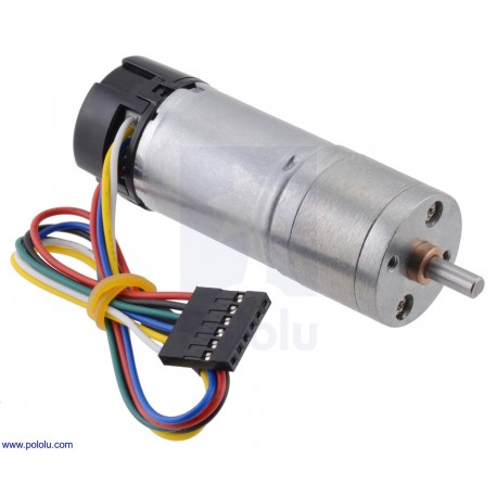 172:1 6V HP 25Dx71L- Metal Gearmotor with 48 CPR Encoder
