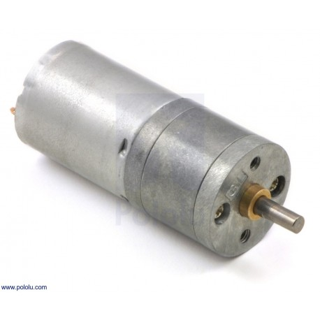 20,4:1 12V HP 25Dx50L- Metal Gearmotor