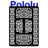 Pololu 1541 - Pololu RP5 Expansion Plate RRC07B (Wide) Solid Black