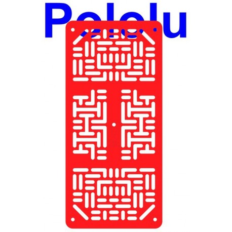 Pololu 1530 - Pololu RP5 Expansion Plate RRC07A (Narrow) Solid Red