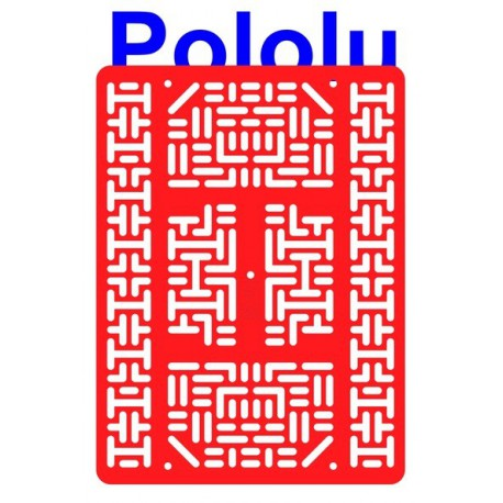 Pololu 1540 - Pololu RP5 Expansion Plate RRC07B (Wide) Solid Red