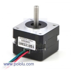Pololu 1207 - Stepper Motor: Bipolar, 200 Steps/Rev, 35x26mm, 7.4V, 280mA