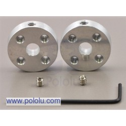 Pololu 1203 - Pololu Universal Aluminum Mounting Hub for 5mm Shaft Pair
