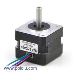 Stepper Motor: Bipolar, 200 Steps/Rev, 35x28mm, 10V, 500mA