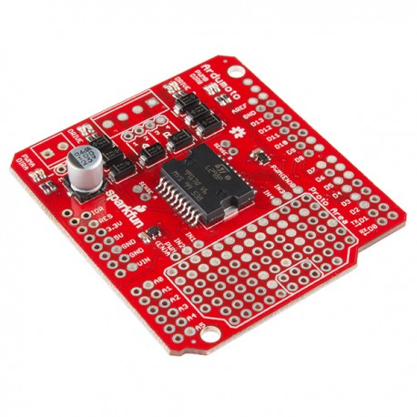 Ardumoto - two-channel DC motor driver for Arduino
