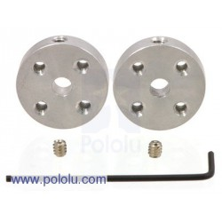 Pololu 1081 - Pololu Universal Aluminum Mounting Hub for 4mm Shaft Pair, 4-40 Holes