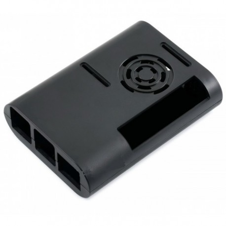 Case for Raspberry Pi 4B, black (with fan)