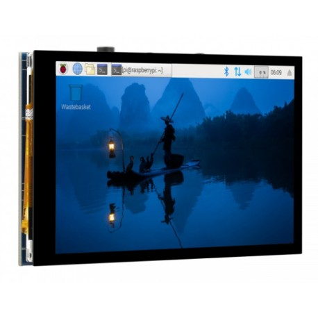 """4inch DPI LCD (B) - IPS 4"""" LCD display with touch screen for Raspberry Pi"""