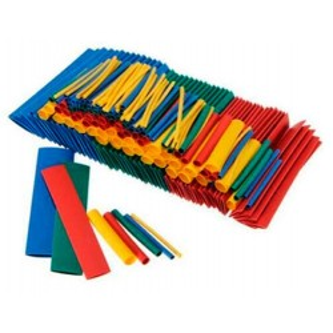 Rurki termokurczliwe kolorowe - zestaw 328 sztuk