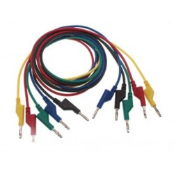 Wires with banana terminals - set of 5