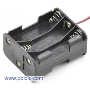 Pololu 1156 - 6-AA Battery Holder, Back-to-Back