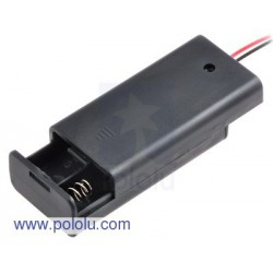 Pololu 1160 - 2-AA Battery Holder, Enclosed with Switch