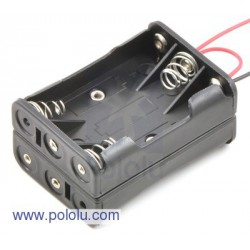 Pololu 1148 - 6-AAA Battery Holder, Back-to-Back