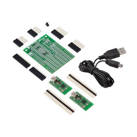 Pololu 2501 - Wixel Shield for Arduino + Wixel Pair + USB cable