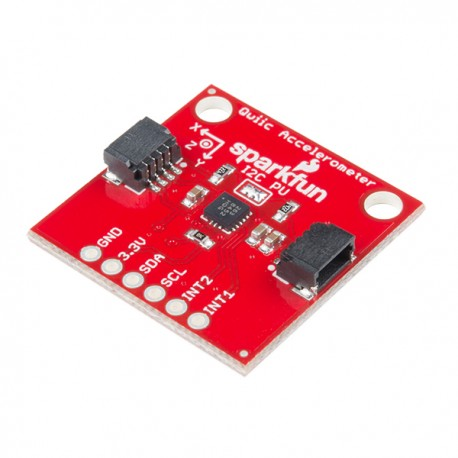 Triple Axis Accelerometer Breakout - a module with a 3-axis MMA8452Q accelerometer