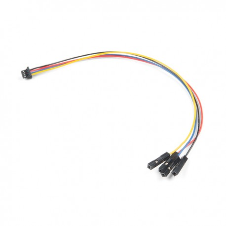 Qwiic 4-pin female cable with JST-SH plug, 150 mm