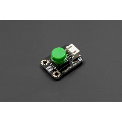 Gravity: Digital Push Button - button with LED (green)
