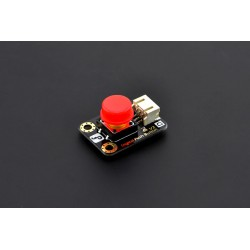 Gravity: Digital Push Button - button with LED (red)