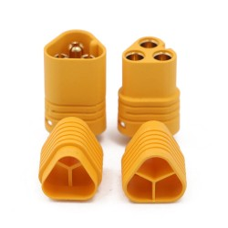 MT60 - 3-pin high-current connector (plug + socket + cover)