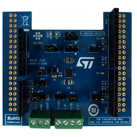 X-NUCLEO-IOD02A1 - Dual-channel IO-Link device expansion module for STM32 Nucleo