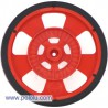 Pololu 1192 - Solarbotics SW-R RED Servo Wheel with Encoder Stripes, Silicone Tire