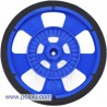 Pololu 1193 - Solarbotics SW-LB BLUE Servo Wheel with Encoder Stripes, Silicone Tire