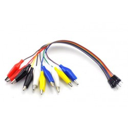 Connection cable male goldpin- 10-pin alligator clip 20cm
