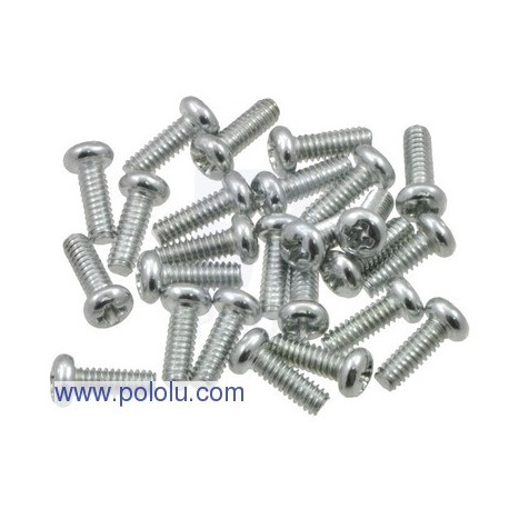 "Pololu 1955 - Machine Screw: #2-56, 1/4"" Length, Phillips (25-pack)"