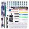 Set of electronic components + breadboard (830 elements)