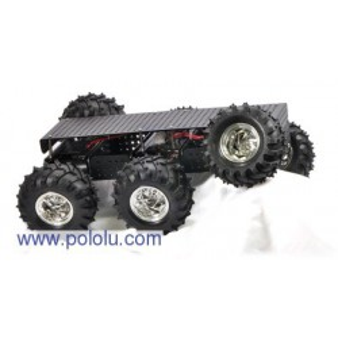 Pololu 1562 - Dagu Wild Thumper 6WD All-Terrain Chassis, Black, 34:1