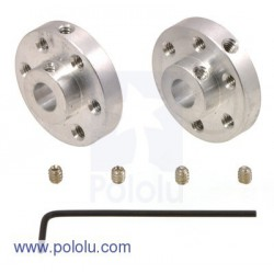 Pololu 1083 - Pololu Universal Aluminum Mounting Hub for 6mm Shaft Pair, 4-40 Holes